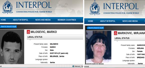 """Résultat de recherche d'images pour """"mira markovic interpol presheva"""""""