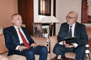 Kryetari-i-Kuvendit-Ilir-Meta-pritet-nga-Kryeministri-i-Marokut-Abdelilah-Benkirane1-525x350