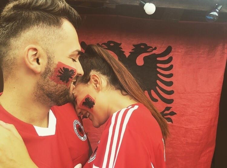 Albanien #kuqezi #shqiponje #tifozat #forcashqiperia