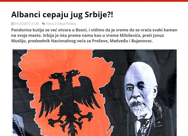 Pravda  Shqiptarët e Preshevës përshëndesin Rexhep Qosjen për shkyerjen e Serbis e Jugore