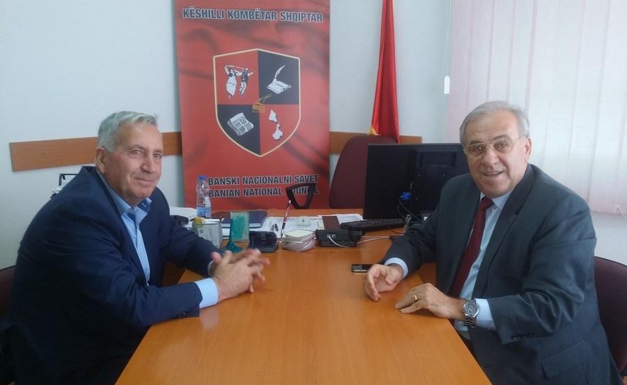 Ambasadori shqiptar  Boçka  ne Bujanoc i shqetësuar për diskriminimin dhe eksodin e shqiptarëve në Luginë