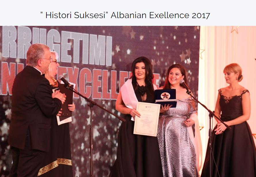Dietologia Anila Kalleshi nderohet nga   Albanian Excellence   për kontributin e saj në shoqërine shqiptare