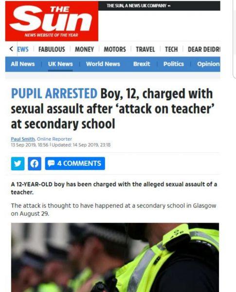 Edhe kjo bëri vaki  12 vjeçari ngacmon seksualisht mësuesen